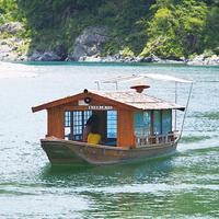 観光遊覧船屋形船仁淀川の写真