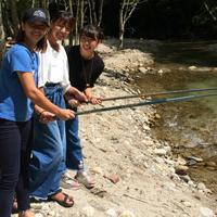 三依渓流つり場の写真