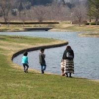 国営みちのく杜の湖畔公園の写真