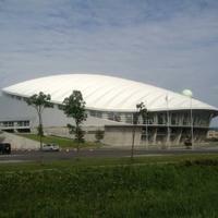 札幌市スポーツ交流施設コミュニテイドームテニスコートの写真
